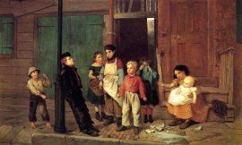 The bully of the neighborhood -  John George Brown
