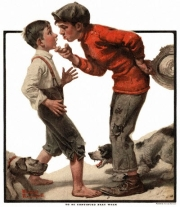 bullismo nellarte -Norman Rockwell - Bully before